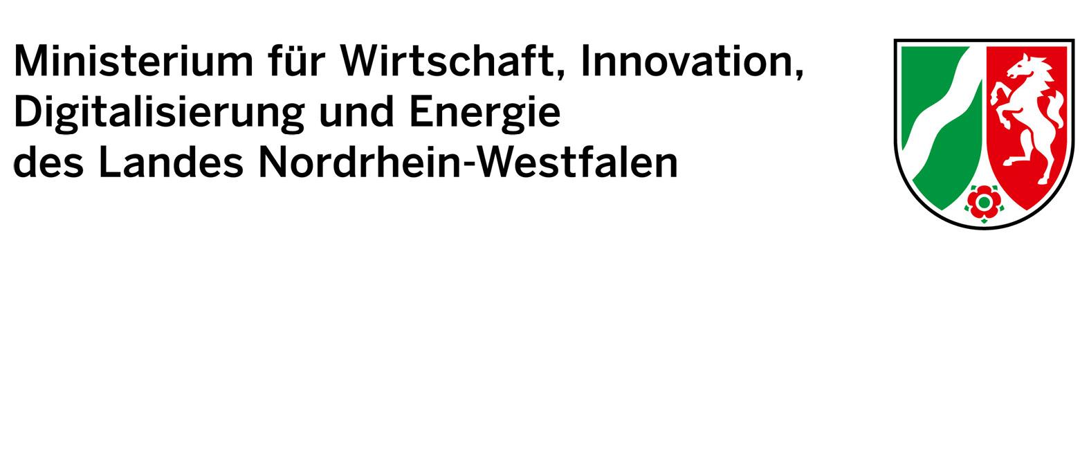 Logo Ministerium für Wirtschaft, Innovation, Digitalisierung und Energie des Landes Nordrhein-Westfalen