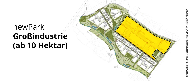 newPark: Großindustrie (ab 10 Hektar)