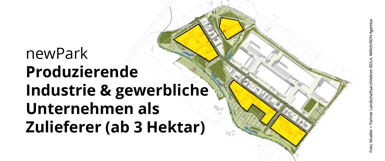 newPark Produzierende Industrie & gewerbliche Unternehmen als Zulieferer (ab 3 Hektar)