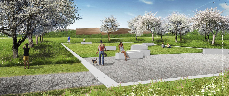 Parkähnliche Landschaften im newPark.
