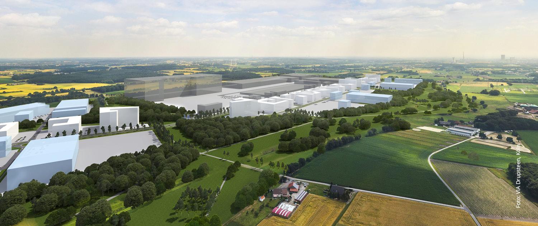 Das 290 Hektar große Industriegebiet: der newPark.